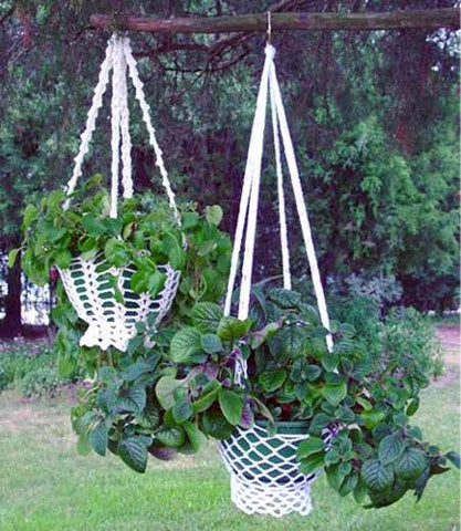 Country Cottage Plant Hanger Crochet Pattern - Maggie's Crochet
