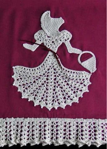 Crinoline Pillowcase Lady Crochet Pattern - Maggie's Crochet