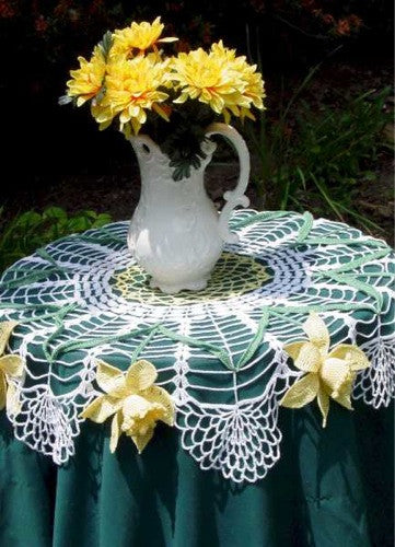 Daffodil Table Topper Crochet Pattern - Maggie's Crochet