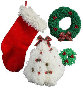 Deck the Halls Home Decor Set Pattern - Maggie's Crochet