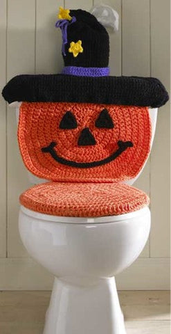 pumpkin toilet cover
