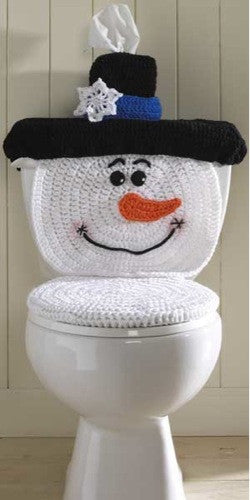 Outstanding Snowman Toilet Cover Crochet Pattern Pabps2019 Chair Design Images Pabps2019Com