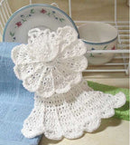 white angel dishcloth