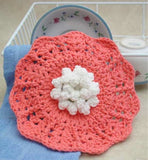 rose dishcloth