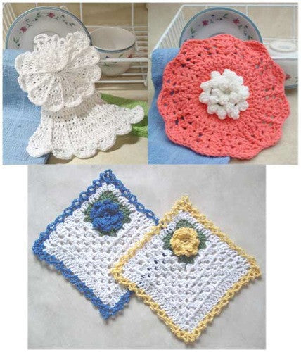 Dishcloth Collection Crochet Pattern - Maggie's Crochet