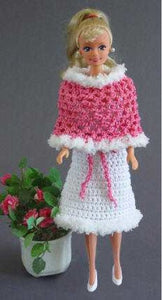 Fashion Doll Strapless Dress and Poncho Crochet Pattern - Maggie's Crochet
