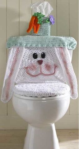 Easter bunny toilet cover