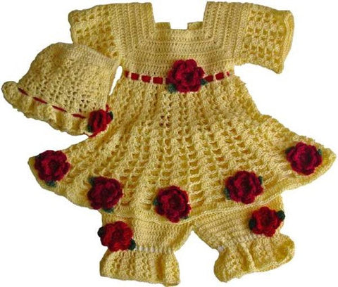 yellow rose baby flower dress