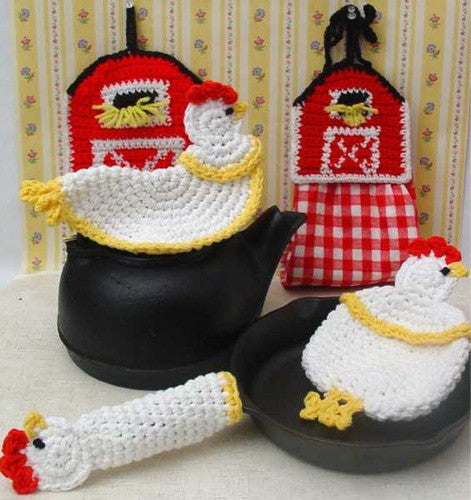 Farmyard Kitchen Set Crochet Pattern - Maggie's Crochet