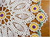 Sunflower doily close up