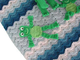 Frog Afghan Close Up