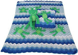 Frog Afghan,Pillow,and Toy
