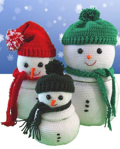 Winter Snowman Containers