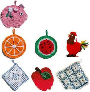 Fun and Fruity Potholders Crochet Pattern - Maggie's Crochet