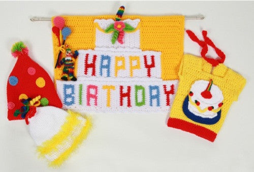 Birthday Banner, Hats, and Bib