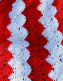 American flag afghan close up