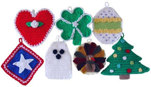 Holiday Potholders Crochet Pattern - Maggie's Crochet