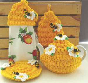 Honey Bee Kitchen Set Crochet Pattern - Maggie's Crochet
