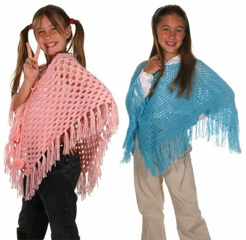 Ponchos for Kids Crochet Pattern - Maggie's Crochet