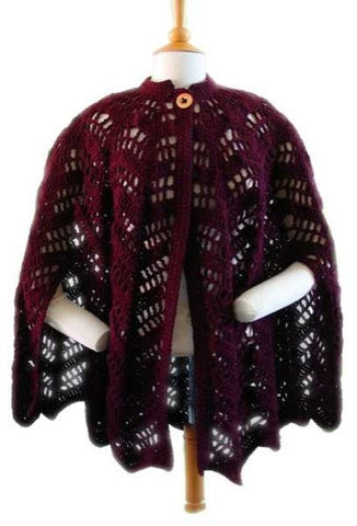 lace ripple cape