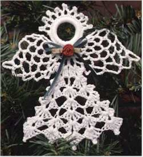 Christmas Ornament Angels From Office Supplies: Lacy Angels Christmas Ornament Set