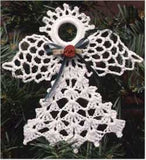 Lacy Angels Christmas Ornament Set - Maggie's Crochet