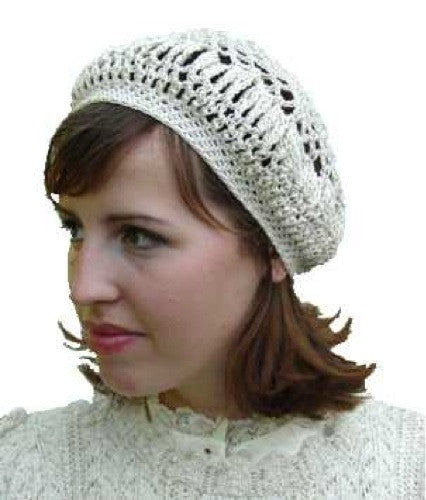 Lacy Beret Crochet Pattern Maggies Crochet