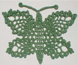green lace butterfly doily