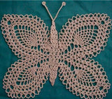 peach lace butterfly doily