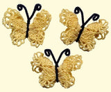 yellow lace butterflies