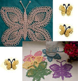 lace butterflies crochet pattern