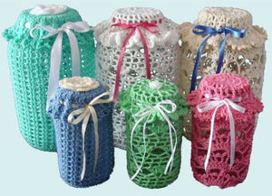 Easy Lace Jar Covers Set 1 Crochet Pattern - Maggie's Crochet