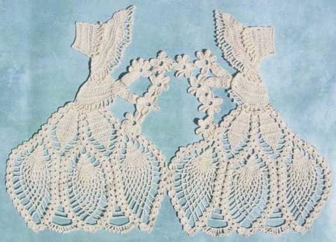 old fashioned girl doily
