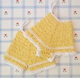 yellow pants and panties potholders
