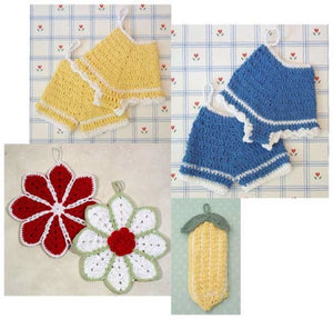 Old Fashioned Potholders Set 1 Crochet Pattern - Maggie's Crochet