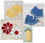old fashioned potholders set