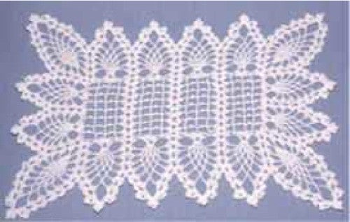 Pineapple Placemat And Table Topper Crochet Pattern Maggies Crochet