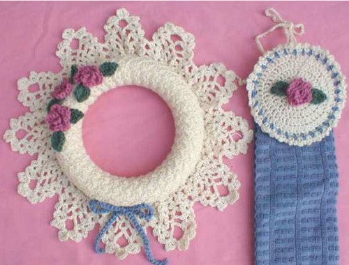 pineapple wreath and towel topper