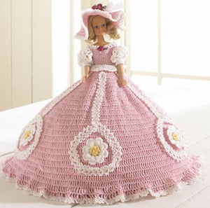 pink plantation stroll fashion doll dress