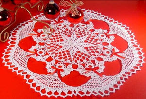 Poinsettia Angel Doily Crochet Pattern - Maggie's Crochet