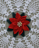 poinsettia pineapple doily