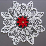 Poinsettia Pineapple Doily Crochet Pattern - Maggie's Crochet