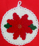 poinsettia potholder