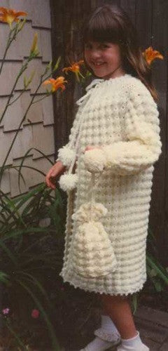 puff shell coat and purse