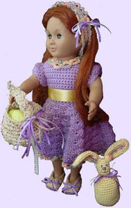 "18"" Doll Ready for Spring for Crochet Pattern - Maggie's Crochet"