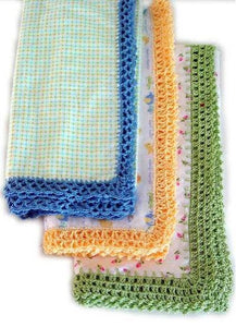 blankets with edging