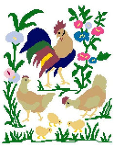 Filet Rooster Crochet Pattern - Maggie's Crochet
