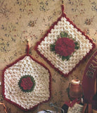 cabbage rose potholder