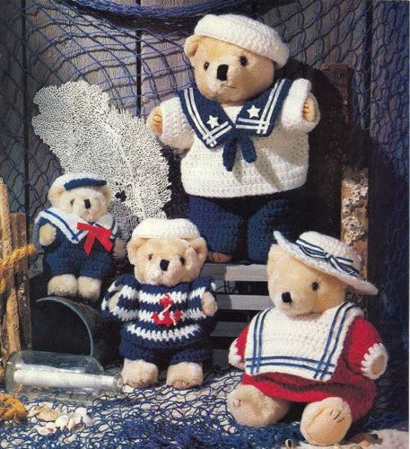 super easy sailor bears crochet pattern