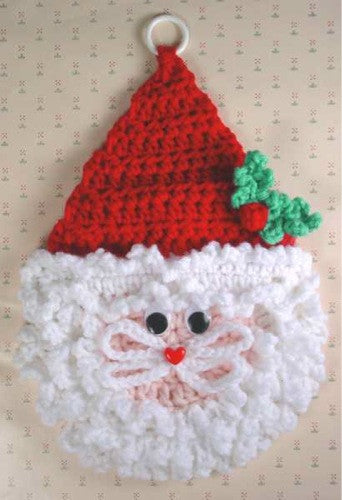 santa wall hangings crochet pattern � maggies crochet